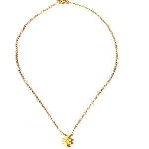 NEW Tory Burch Delicate Logo Pendant Necklace